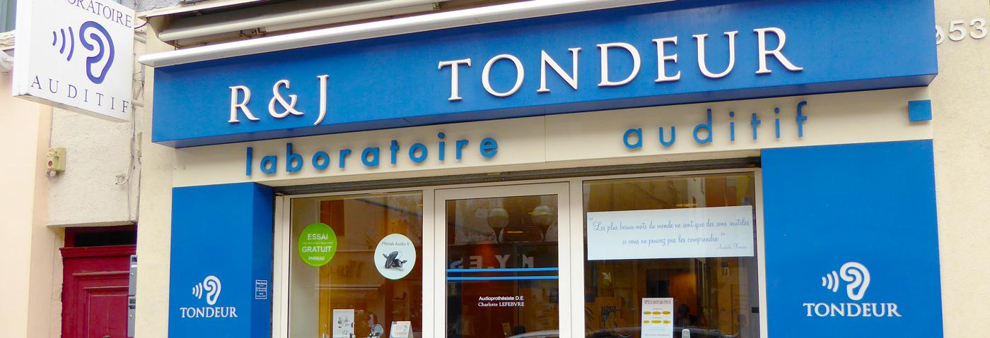 Façade du magasin Tondeur Audio à Villefranche sur Saône