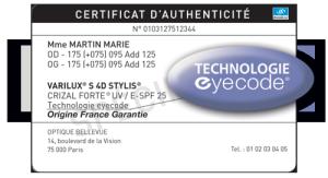 eyecode-certificat
